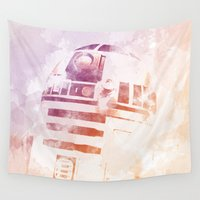 r2d2 Wall Tapestries featuring R2D2 by eARTh