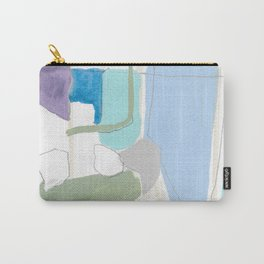 stone by stone 4 - abstract art fresh color turquoise, mint, purple, white, gray Carry-All Pouch