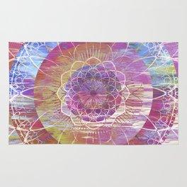 Glitch Mandala Rug