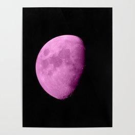 4K Dark Side of the Moon Fuchsia Poster