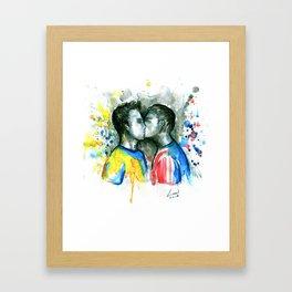 Kiss players Framed Art Print