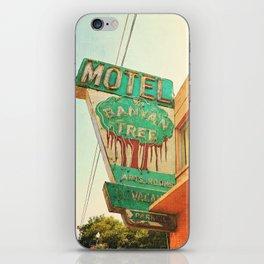 motel sign iPhone Skin