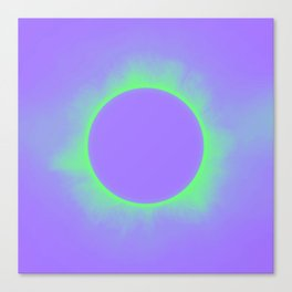 Solar Eclipse in Purple and Green Colors Canvas Print