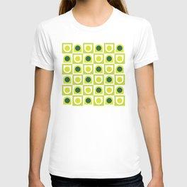 Geometric Pattern 210 (lime green) T-shirt