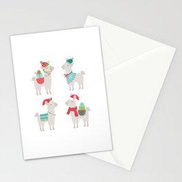 Christmas llamas Stationery Cards