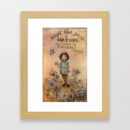 Adopt the Pace of Nature Framed Art Print