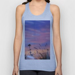 LOOK OUTSIDE - Flowers & Sunset #1 #art #society6 Unisex Tank Top