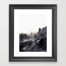 Watercolor abstract landscape 17 Framed Art Print
