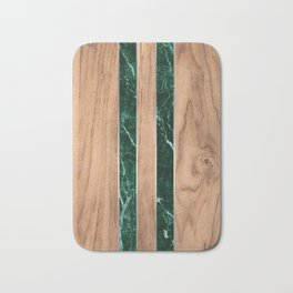 Wood Grain Stripes Green Granite #901 Bath Mat