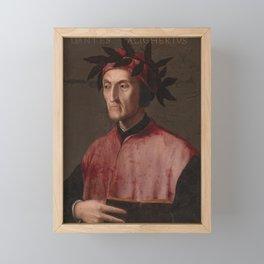 Portrait of the poet Dante Framed Mini Art Print