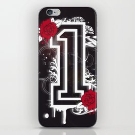 number ONE with roses iPhone Skin