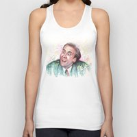 nicolas cage Tank Tops featuring Nicolas Cage You Don't Say by Olechka