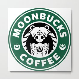 Moonbucks Coffee Metal Print
