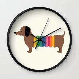 Rainbow Dooooog Wall Clock