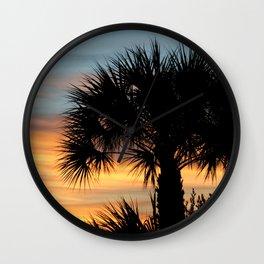 Sago Palm Tree Florida Sunrise Wall Clock