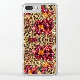 Red Daylilies, Flower Garden Clear iPhone Case