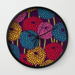 Full of Chrysanth Wall Clock
