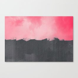 Two color abstract - pink, gray Canvas Print