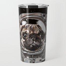 Astronaut Pug Selfie Travel Mug
