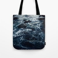 salt water Tote Bags featuring Salt Water Study by Teal Thomsen Photography