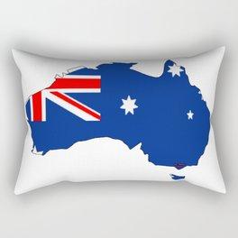 Australia Map with Australian Flag Rectangular Pillow