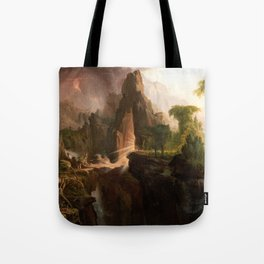 Thomas Cole - Expulsion from the Garden of Eden, 1828 Tote Bag