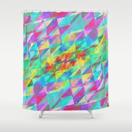 MULTICOLORED HAPPY CHAOS Shower Curtain