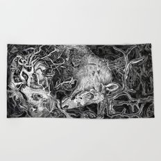 Elk Decay Beach Towel