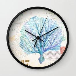 Watercolor Seafan Wall Clock