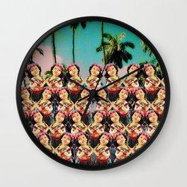 Hula baby girl Wall Clock