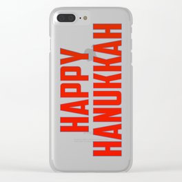 Happy Hanukkah Clear iPhone Case