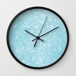 Fantasy leaves 1 Wall Clock