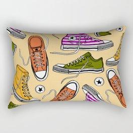 Conversing in Yellow Rectangular Pillow