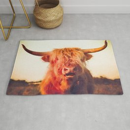 Highland cow watercolor painting #2 Rug