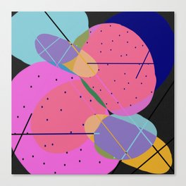 Random Thoughts I - Abstract, minimalist, scandinavian pop art Canvas Print