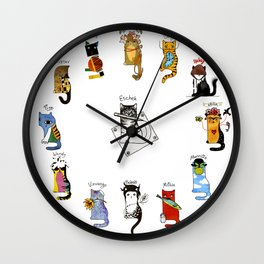 Legendary Art cats - Great artists, great painters. Wall Clock