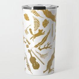 golden winter Travel Mug