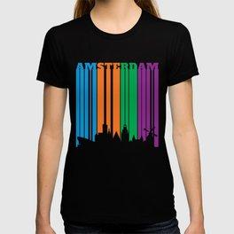 Amsterdam Skyline in Silhouette T-shirt