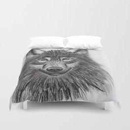 Wolf // #ScannedSeries Duvet Cover