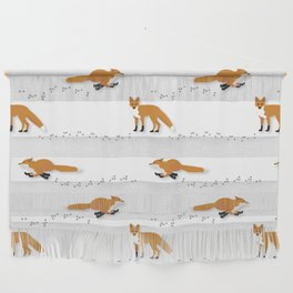 Fox Tracks Wall Hanging