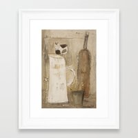 milk Framed Art Prints featuring milk by woman