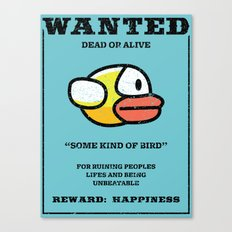 Wanted: some kind of bird Canvas Print