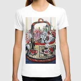 """Basket of Flannel Flowers"" by Margaret Preston T-shirt"