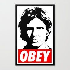 Obey Han Solo - Star Wars Canvas Print