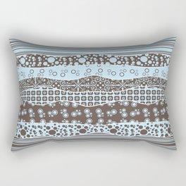 Blue and Brown Patterns Rectangular Pillow
