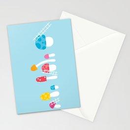Mushroom Maintenance Blue Stationery Cards