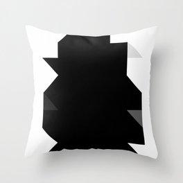 Odd Black Throw Pillow