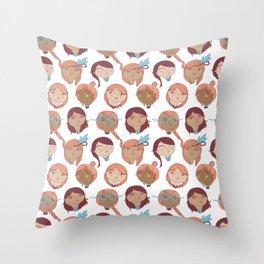 Pattern Project #22 / Girl Gang Throw Pillow