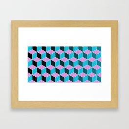Pop Blocks Framed Art Print