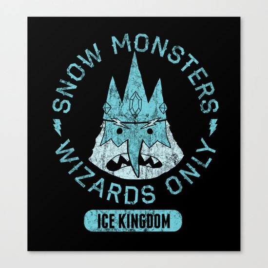 Bad Boy Club: Snow Monsters, Wizards Only Canvas Print